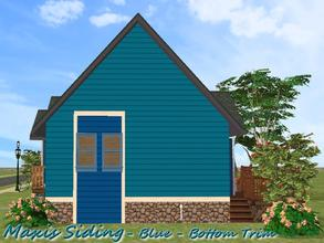 Sims 2 — Maxis Siding-Blue-Bottom Trim by allison731 — Recolored Maxis siding wall + added bottom trim. Cost in game: 10