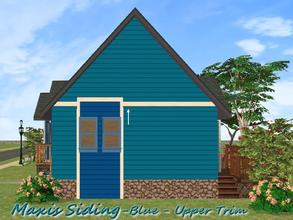 Sims 2 — Maxis Siding-Blue-Upper Trim by allison731 — Recolored Maxis siding wall + added upper trim. Cost in game: 10