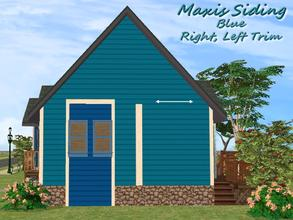 Sims 2 — Maxis Siding-Blue-Left Trim by allison731 — Recolored Maxis siding wall + added left trim (cropped from Advanced