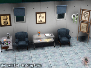 Sims 3 — Hollow's End - Waiting Room by Symphonie1213 — Don't stress while waiting for that important doctor's visit!