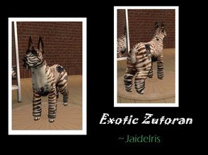 Sims 2 — Exotic Zutoran  by Jaideiris2 — This large breed is closely related to the sim canine. It is found only in the