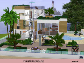 Sims 3 — Finisterre House V2 by rrafemi2 — Beautiful 4 stories house, modern style, next to a cliff with great views to