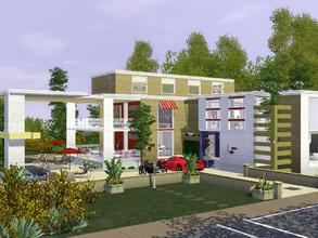 Sims 3 — Newport by mrsimulator — Newport is a modern home and is fully furnished, situated in Bridgeport 12 Bogaard