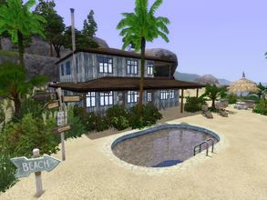 Sims 3 — Spring Break Beach Hut by timi722 — Shabby beach house with landscaped garden for a medium family. The ground