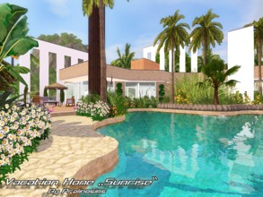 Sims 3 — Vacation Home Sunrise by Pralinesims — EP's required: World Adventures Ambitions Late Night Generations Pets