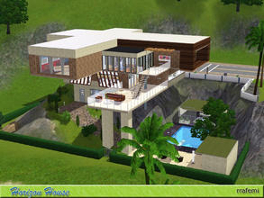 Sims 3 — Horizon house by rrafemi2 — Beautiful and modern home located on a sloping plot near the beach. It has three