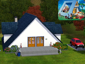 Sims 3 — playmobil_inspired_holiday_home_single_-_floor by hoschdwoschd2 — single-floor house looking like a holiday home