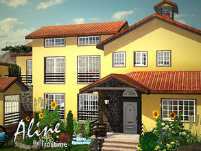 Sims 3 — Aline by Trustime — Mediterranean villa fully furnished for your sims... Cars not included. Ground Floor: - hall