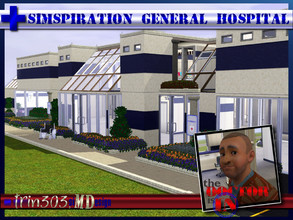 Sims 3 — Simspiration General Hospital by trin3032 — The doctor is IN! A hospital for the deluxe medical experience, by