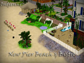 Sims 3 — New Pier Beach and Bistro *No Purchases Required* by indiesine2 — The Old Pier Beach in Sunset Valley is