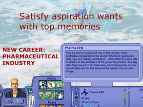 Sims 2 — New Career:  Pharmaceutical Industry by eliseluong2 — A top notch competitive career for top notch competitive