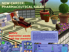 Sims 2 — New Career:  Pharmaceutical Sales by eliseluong2 — Selling one of the most marked up products and you get the