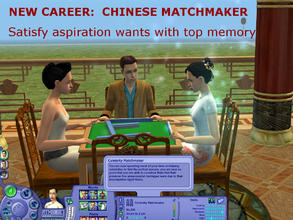 Sims 2 — New Career:  Chinese Matchmaker by eliseluong2 — A Chinese traditional match making career that has been exited