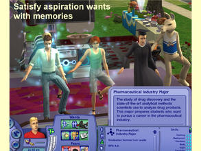 Sims 2 — New University Major:  Pharmaceutical Industry by eliseluong2 —