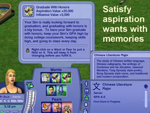 Sims 2 — New University Major:  Chinese Literature by eliseluong2 —