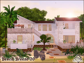 Sims 3 — Beach Breeze 20 by Devirose — Summer house, ideal for holidays or for a small family. Exotic atmosphere,
