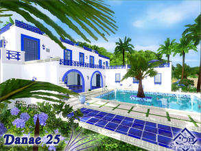 Sims 3 — Danae 25 by Devirose — House by the Greek lines,to be placed in vacation spots and ideal for young couple or
