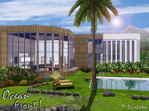 Sims 3 — Ocean Front I by Trustime — This modern house fully furnished near the sea is great for your sims. Car BMW X6M