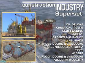 Sims 2 — Construction Industry Superset by Cyclonesue — Everything made for the Construction Industry series bundled
