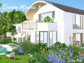 Sims 3 — Ocean Wave 5 by philo — Traditional with a tropical touch, this 3 bedrooms villa has a double sunken open
