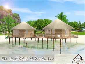 Sims 3 — Polynesian Bungalow by Devirose — Polynesian typical house, ideal for a single sim or a couple,to be placed