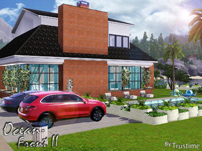 Sims 3 — Ocean Front II by Trustime — This modern and luxurious house fully furnished near the sea is great for your