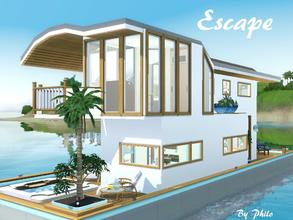 Sims 3 — Escape by philo — Are you looking for a house boat? Then have a look at this one. Your sims can live and travel