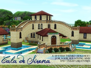 Sims 3 — Cala de Sirena Resort by medalgold2 — Treat your sea-loving sims and your fishtailed creatures to this peaceful,