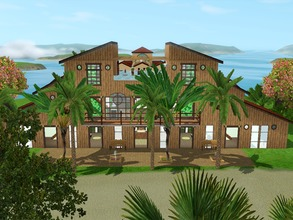 Sims 3 — Resort Paradiso by DeathBerrySims — Resort for your beloved sim. This resort has a big pool with a slide, 2
