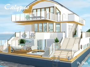 Sims 3 — Calypso by philo — This 4 bedrooms house boat can accomodate up to 8 sims and their pets. The first floor has