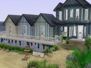 Sims 3 — Beach Hut Cabana by trin3032 — This beach house residence is all charm and class! Fun to live in, or to turn