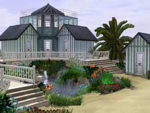 Sims 3 — Cottage Cabana by trin3032 — A unique mix of cape-cod and modern, this beach residence is much more spacious
