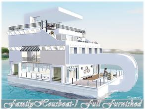 Sims 3 — Modern Houseboat-01 [Full Furnished]  by TugmeL — Created with built EP's :Sims3 Seasons, University and Island