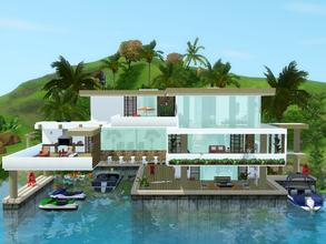 Sims 3 — Coral Rock by mrsimulator — Coral Rock is a modern and contemporary style home with room to expand, featuring 3