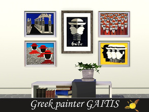 Sims 3 — evi Greek Painter Gaitis by evi — A set of 5 paintings by the Greek painter Gaitis, famous for his anonymous men