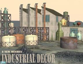 Sims 2 — Industrial Decor by Cyclonesue — Industrial items for factories, farms, sci-fi lots and, of course, granny\'s