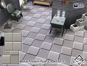 Sims 3 — Beton Modern Floor  Collection 1 by Devirose — This file includes 2 floors-Base Game Compatible,no need