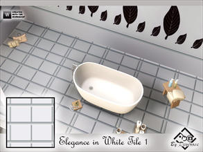 Sims 3 — Elegance in White Tile 1 by Devirose — -Design by Devirose-Created with TSR Workshop,no need EP,base game