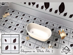 Sims 3 — Elegance in White Tile 2 by Devirose — Design by Devirose-Created with TSR Workshop,no need EP,base game