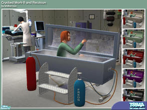 Sims 2 — Cryobed Mark II Set by MsBarrows — The perfect bed for your mad scientist! This cryogenic freezer bed is great
