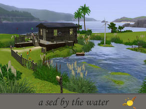 Sims 3 — evi My_shed_by_the_water by evi — For sims that fancy to be free this is the best starter home!