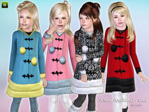 Sims 3 — Winter Wonderland - Coat by lillka — Warm winter coat Everyday/Outdoor recolorable I hope you like it :)