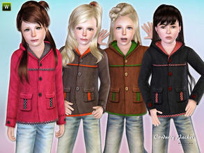 Sims 3 — Corduroy Jacket for Girls by lillka — Chic corduroy jacket for girls Everyday/Outdoor recolorable I hope you
