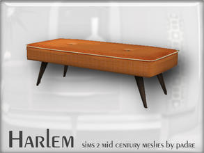 Sims 2 — Harlem Mid Century - Fabric Coffee Table by Padre — A large set of meshes inspired by the mid century era.