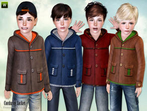 Sims 3 — Corduroy Jacket for Boys by lillka — Corduroy Jacket for Boys Everyday/Outdoor recolorable I hope you like it :)