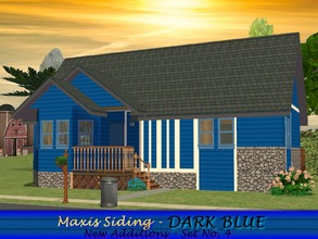 Sims 2 — Maxis Siding - Dark Blue by allison731 — 4th set-New additions-10 new siding walls with trim in dark blue