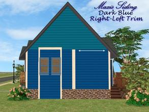 Sims 2 — Maxis Siding-Dark Blue-Left Trim by allison731 — Recolored Maxis siding wall + added right trim. (cropped from