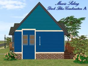 Sims 2 — Maxis Siding-Dark Blue-Trim Combination A by allison731 — Recolored Maxis siding wall + added bottom and upper
