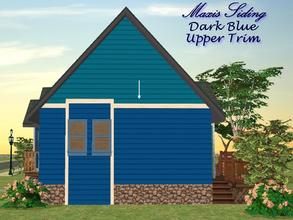 Sims 2 — Maxis Siding-Dark Blue-Upper Trim by allison731 — Recolored Maxis siding wall + added upper trim. Cost in game: