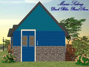 Sims 2 — Maxis Siding-Dark Blue-Panel Stone by allison731 — Recolored Maxis siding wall + combined stone panel from Cabin